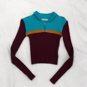 Urban Outfitters Ribbed Zip Up